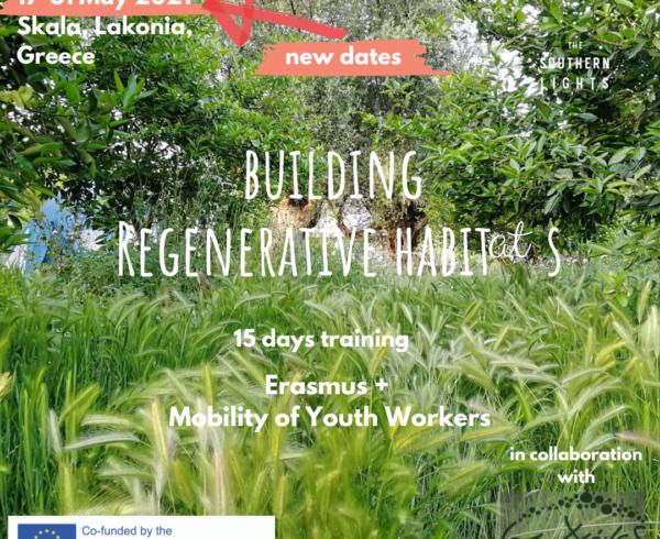 Building regenerative habitats Erasmus Plus program